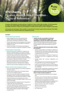 This template provides model terms of reference for Finance, Audit and Risk Committees.