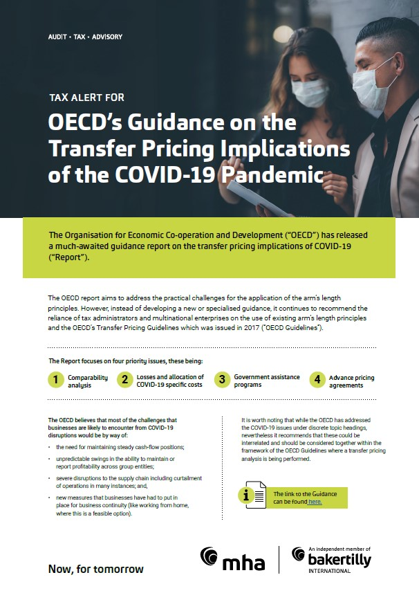 OECD's Guidance on the Transfer Pricing Implications of the COVID-19 Pandemic
