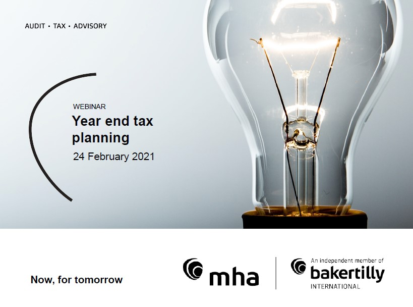 Year End Tax Planning – February 2021