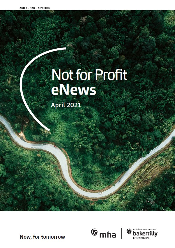 Not for Profit eNews – April 2021