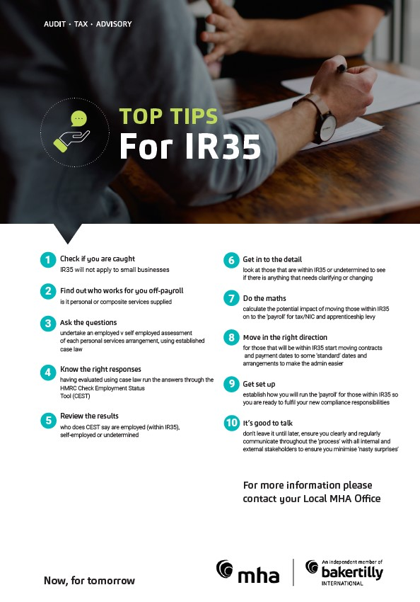 TOP TIPS For IR35