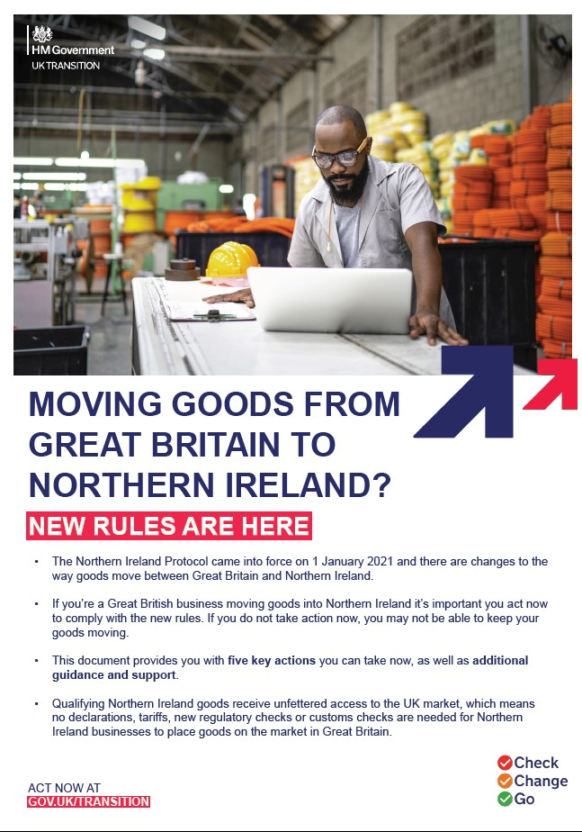 Moving goods from Great Britain to Northern Ireland?