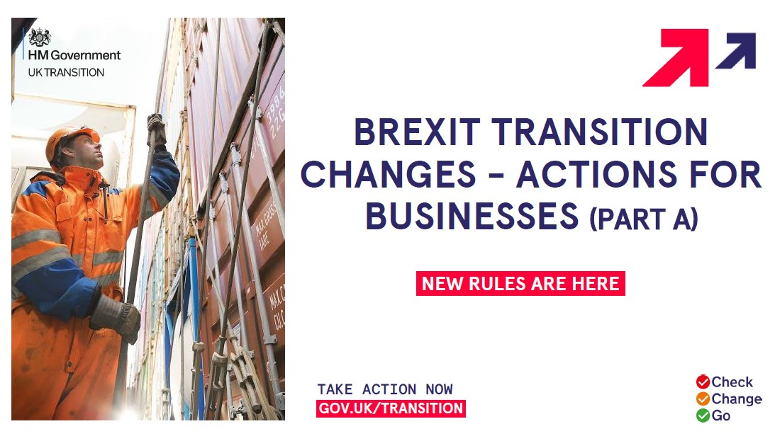 Brexit transition changes actions for businesses (Part A)