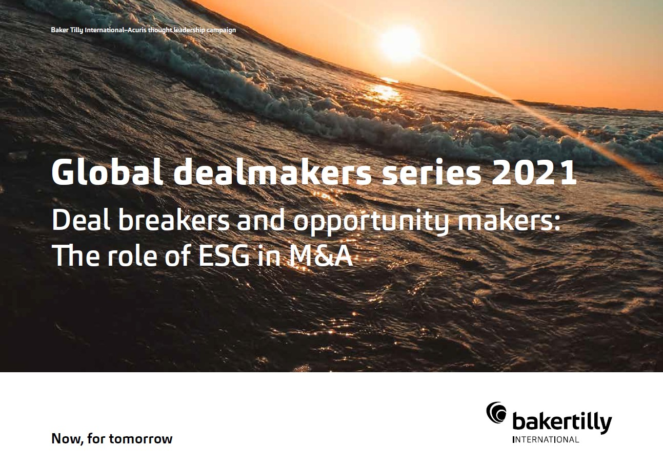 Deal breakers and opportunity makers: The role of ESG in M&A