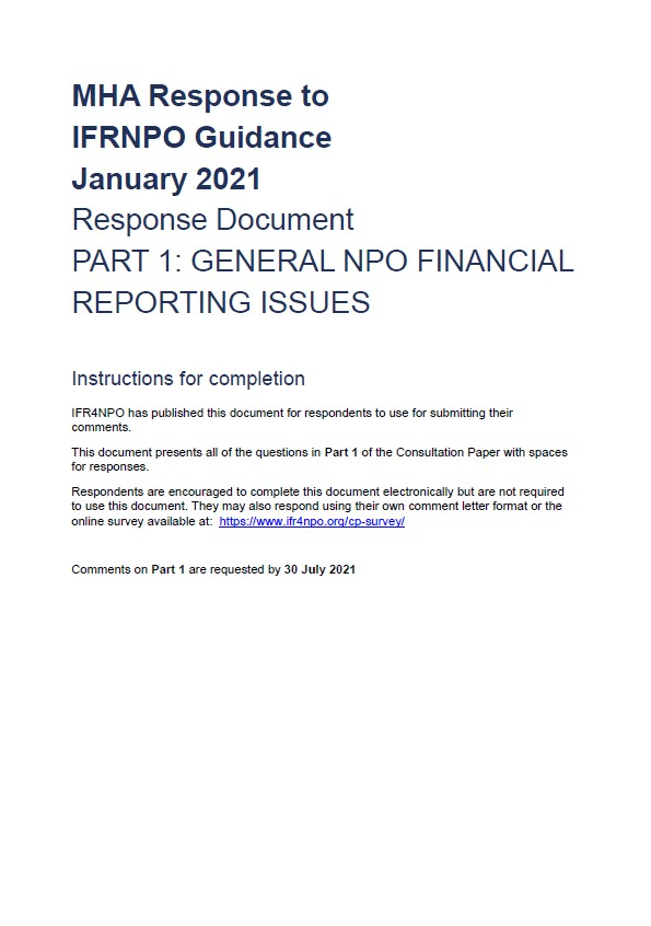 IFR4NPO Consultation Paper 2021