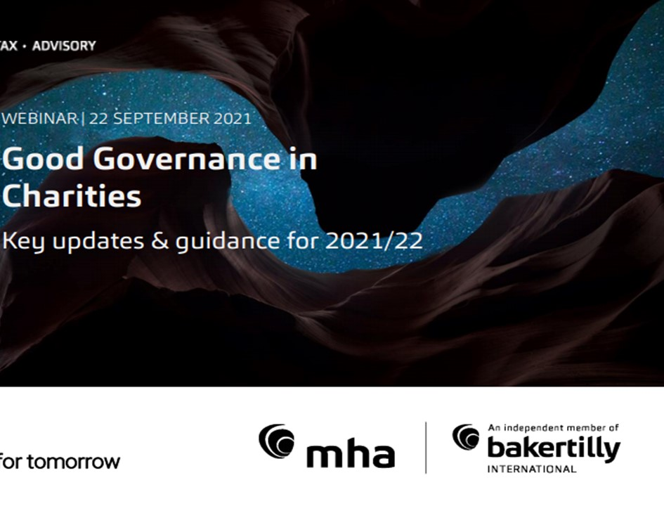 Good Governance in Charities: Key updates and guidance for 2021/22